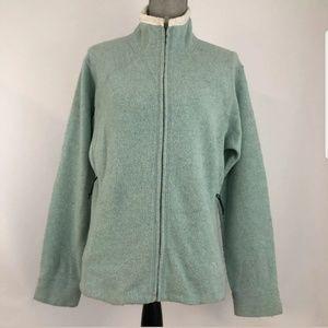 Mountain Hardwear Womens Large Zip Jacket Wool